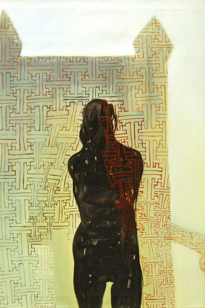 """Valokuva, jossa osa teoksesta """"Valtaistuin"""" (2000)"""